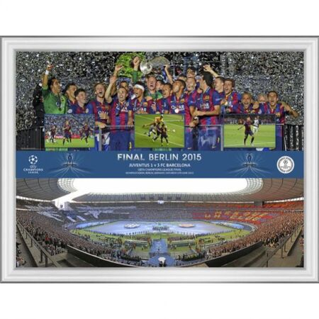 uefa champions league final 2015 framed montage