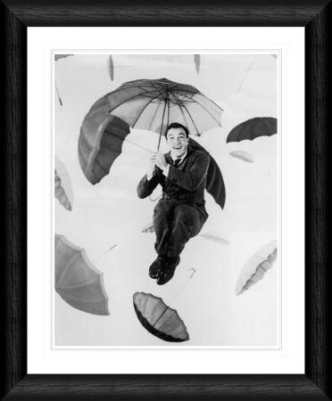 gene kelly umbrellas framed print