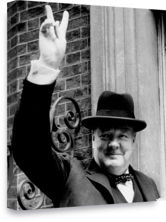 winston churchill victory sign 20x16