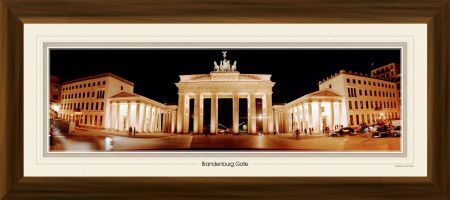 brandenburg gate framed 30 inch panoramic