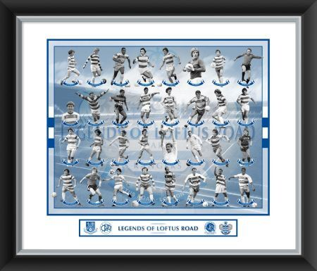 legends loftus road mounted framed 24x20 print