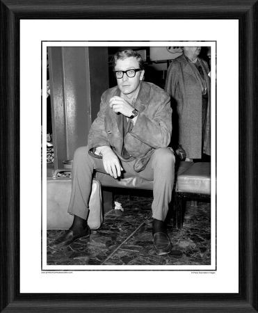 film actor michael caine framed photographic