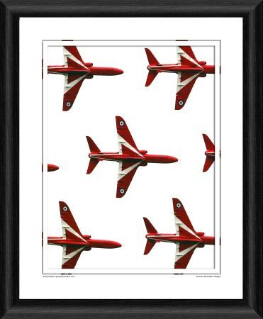 the red arrows framed photographic print