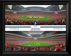 2014 FA Cup Final Framed Panoramic Montage