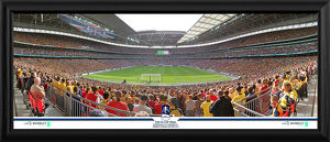 2015 FA Cup Final Behind Goal Framed Panoramic