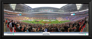 2015 FA Cup Final Line Up Framed Panoramic