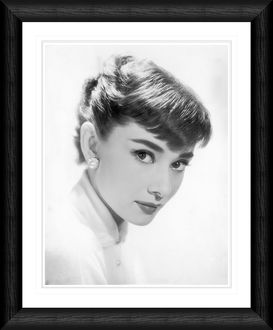Audrey Hepburn Side Profile Framed Print