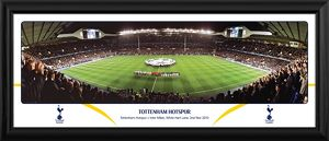 Champions League Night Line Up Versus Inter Milan Framed Panoramic