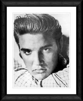 Elvis Presley Close Up Pout Framed Print