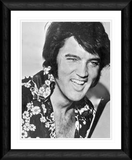 Elvis Presley Close Up Smile Framed Print