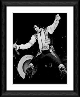 Elvis Presley Live on Stage Framed Print