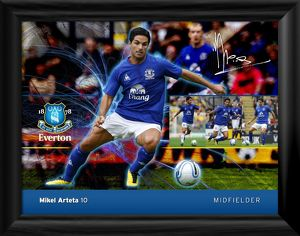Everton FC - Mikel Arteta Player Profile Framed Print