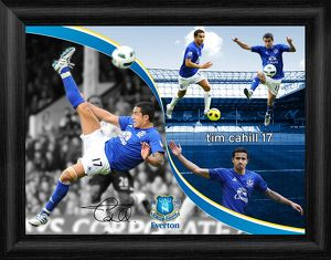 Everton FC - Tim Cahill Framed Montage