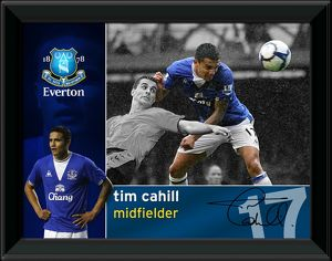 Everton FC Tim Cahill Official Framed Player Profile Print