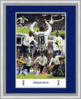 Jermaine Defoe 20x16 Inch Framed Double Mounted Montage Print