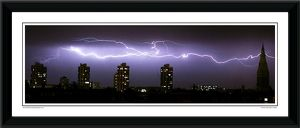 Lightning Strikes London Cityscape Framed Photographic Print