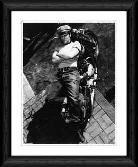 Marlon Brando The Wild One 1953 Framed Print