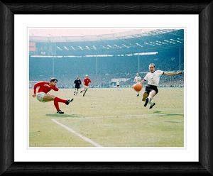 Sir Geoff Hurst's 2nd World Cup Final Goal 1966 Framed Print