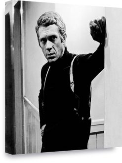 Steve McQueen 'Bullitt' Black & White Box Canvas