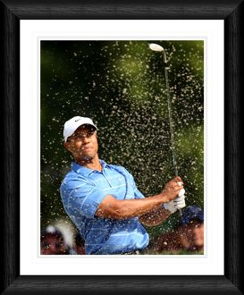 Tiger Woods Bunker Shot Framed Print