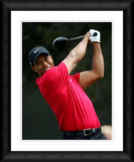 Tiger Woods Drive Shot Framed Print