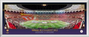 UEFA Europa League Final 2012 at Bucharest Framed Panoramic