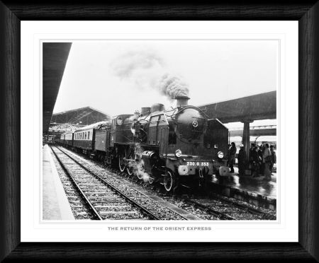 return orient express framed print