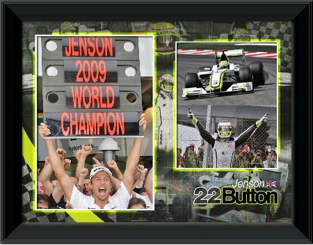 jenson button formula 2009 world champion framed