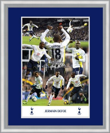 jermaine defoe 20x16 inch framed double mounted
