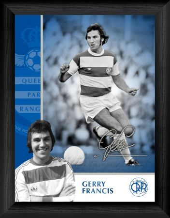 queens park rangers fc gerry francis framed