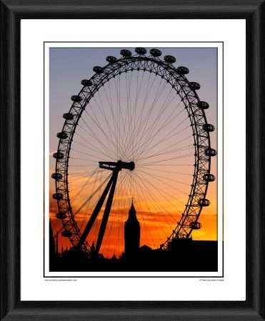 london eye framed photographic print