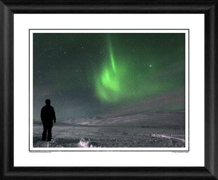 northern lights arctic circle framed photographic