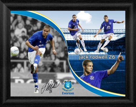 everton fc jack rodwell framed montage
