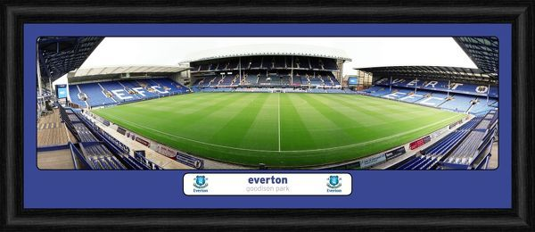 Everton FC Goodison Park Empty Framed Desktop Panoramic Print