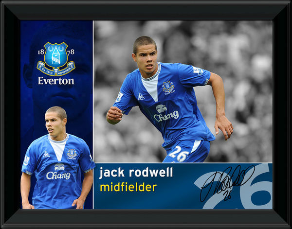 Everton FC Jack Rodwell Official Framed Player Profile Print