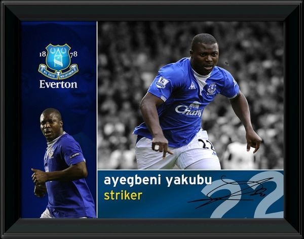 A superb photographic montage of Everton striker Yakabu. Available in two sizes. EVTN114 - 16x12 inches EVTN115 - 8x6 inches
