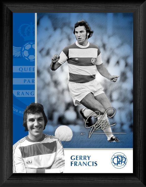 "A stunning tribute to Gerry Francis from Queens Park Rangers FC. Framed and ready to hang. QPR003 - 16x12"" (406x305mm) QPR018 - Desktop 8x6"" (203x152mm)"
