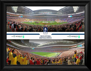 2015 FA Cup Final framed Panoramic Montage