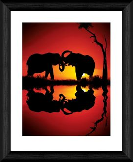 African Dreams 20x16 inch Framed Print