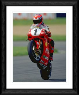 Carl Fogarty Wheelie Framed Print