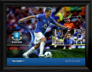 Everton FC - Tim Cahill Player Profile Framed Print