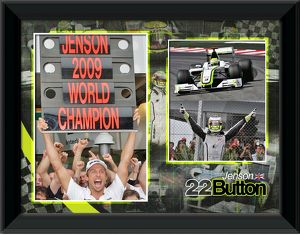 motor sport/jenson button formula 2009 world champion framed