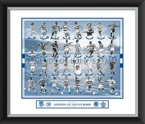Legends Of Loftus Road Mounted & Framed 24x20 Print