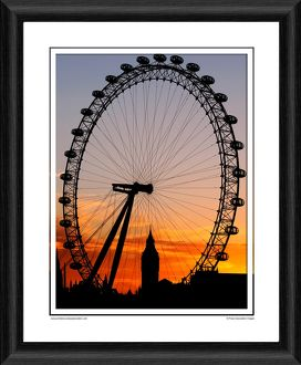 The London Eye - Framed Photographic Print