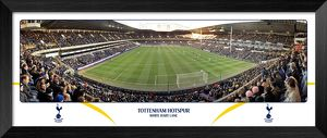Tottenham Hotspur FC White Hart Lane Match Day Behind Goal Framed Panoramic Print