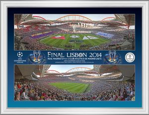 UEFA Champions League 2014, Framed Panoramic Montage