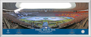 UEFA Champions League 2015 Final Framed Line Up Panoramic
