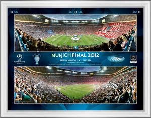 UEFA Champions League Final 2012 at Munich Framed Desktop Panoramic Montage