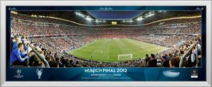 UEFA Champions League Final 2012 at Munich Behind Goal Match Framed Desktop Panoramic