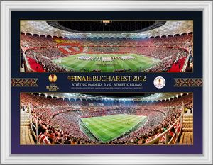 UEFA Europa League Final 2012 at Bucharest Framed Montage